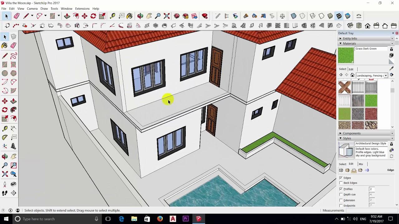 sketchup tutorial home design part 11 the end youtube. Black Bedroom Furniture Sets. Home Design Ideas