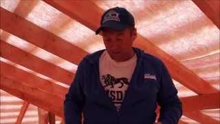 видео Крыша каркасного дома: своими руками каркас и кровля