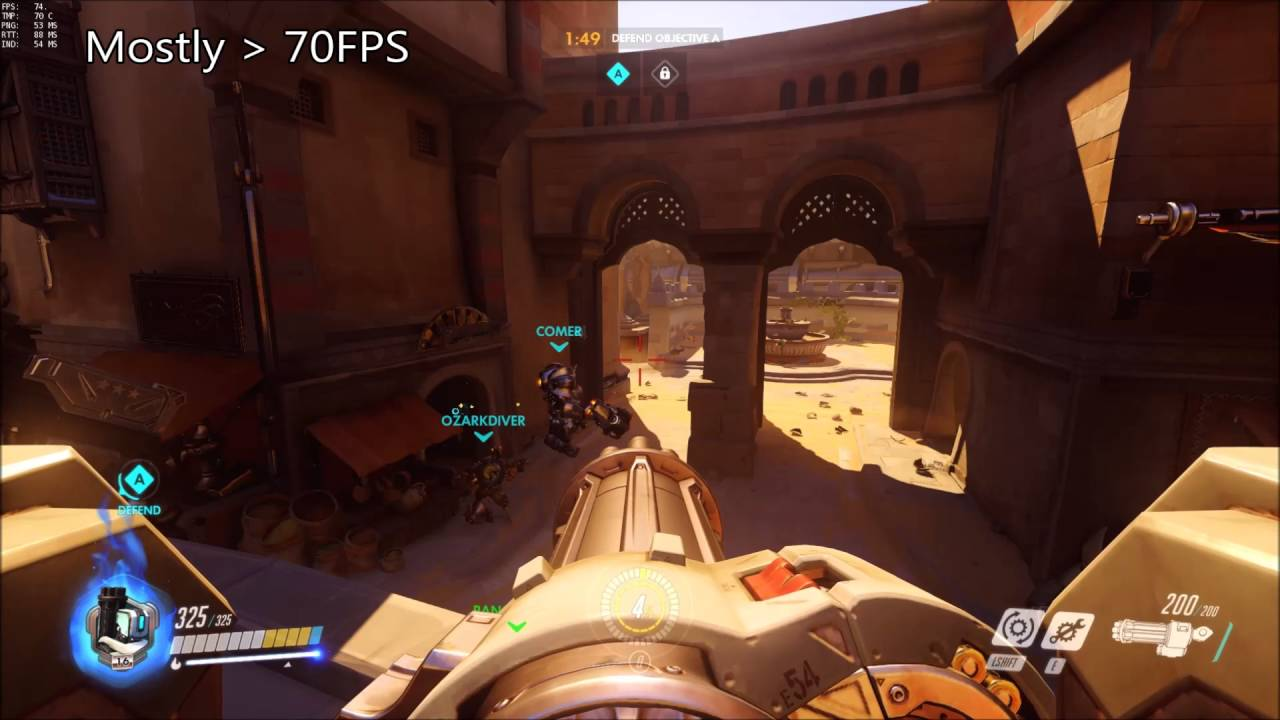 Overwatch Frames Dropping | Capframe co