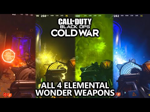 Call of Duty Cold War - How to Unlock all 4 Elemental Wonder Weapons in Zombies Guide