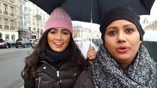 Paris in the Rain with Mamta Sachdeva Cabin Crew/Air hostess/flight attendant Layover Fun Part 1