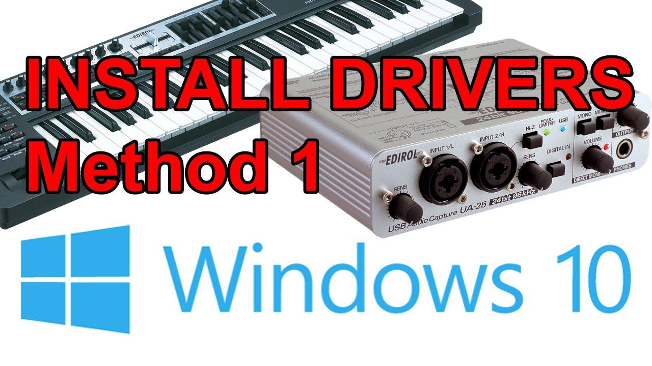 [Tutorial] [Method 1] Install old Roland/Edirol drivers on Windows 10  (Updated)