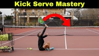 How To Kick Like The Pros! Topspin Serve Drills