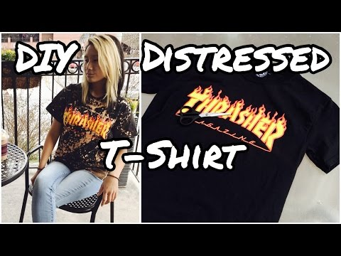 How To: DIY Vintage Distressed T-Shirt { Tumblr Inspired }