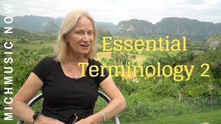 Essential Terminology 2  |  MichMusic Now