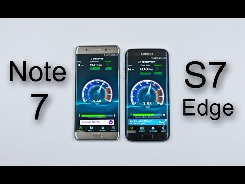Samsung Note 7 vs Samsung S7 Edge - Speed & Heat Test Comparison Review!