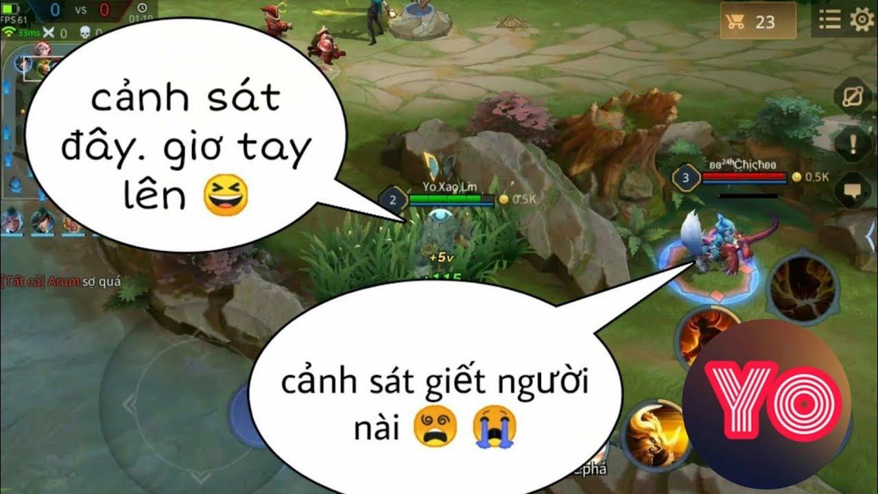Troll Game _ Team Địch Thái Độ Với Cảnh Sát Bò Và Cái Kết Sấp Mặt   Yo Game