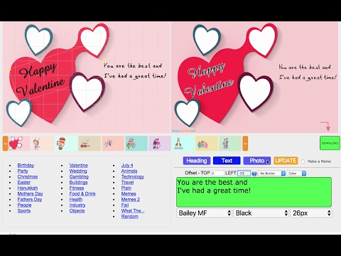 free ecard maker valentines day 2017 design some cards youtube