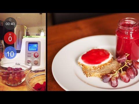 Verführerische Himbeer-Trauben Marmelade | Neues Rezept | Aldi Mixer (Thermomix-Klon)