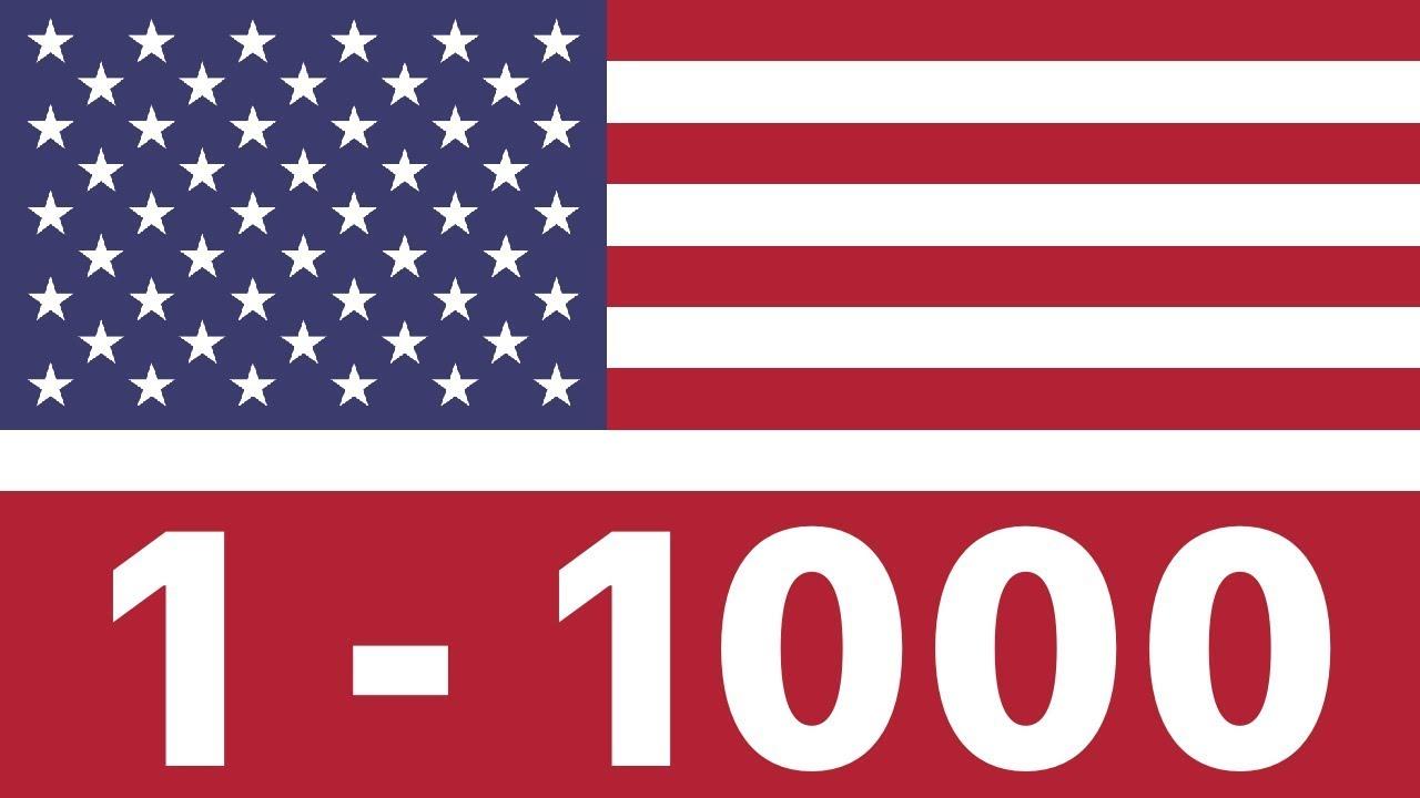 numeros 1 al 2000 en ingles