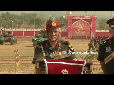 Army Chief presents President's Standard to 47 Armoured Regiment in Jammu
