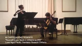 M.CASTELNUOVO TEDESCO, Sonatina per flauto e chitarra op.205
