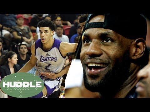 LeBron James Scouting Lonzo Ball in Vegas, Teammates in 2018? -The Huddle