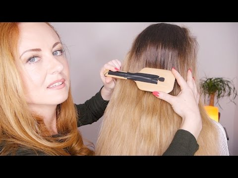 ASMR Hair Treatment | Mic ON Brush | Oils & Crinkle Cap