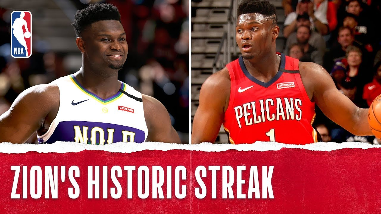 Zion Makes History With 20+ PTS In 10-Straight Games!