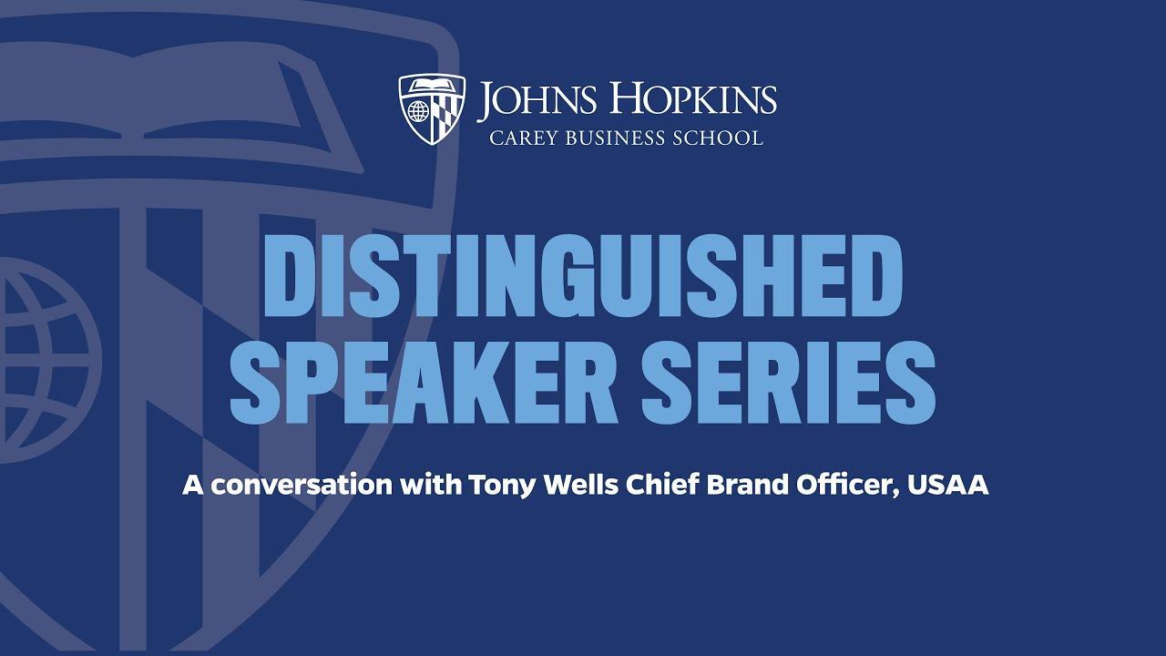Distinguished Speaker Series: Tony Wells