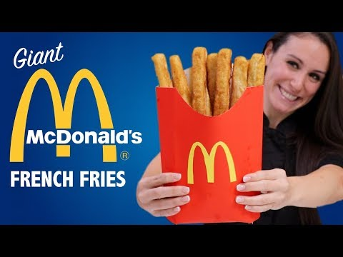 DIY GIANT SMALL McDONALDS FRENCH FRIES 🍟