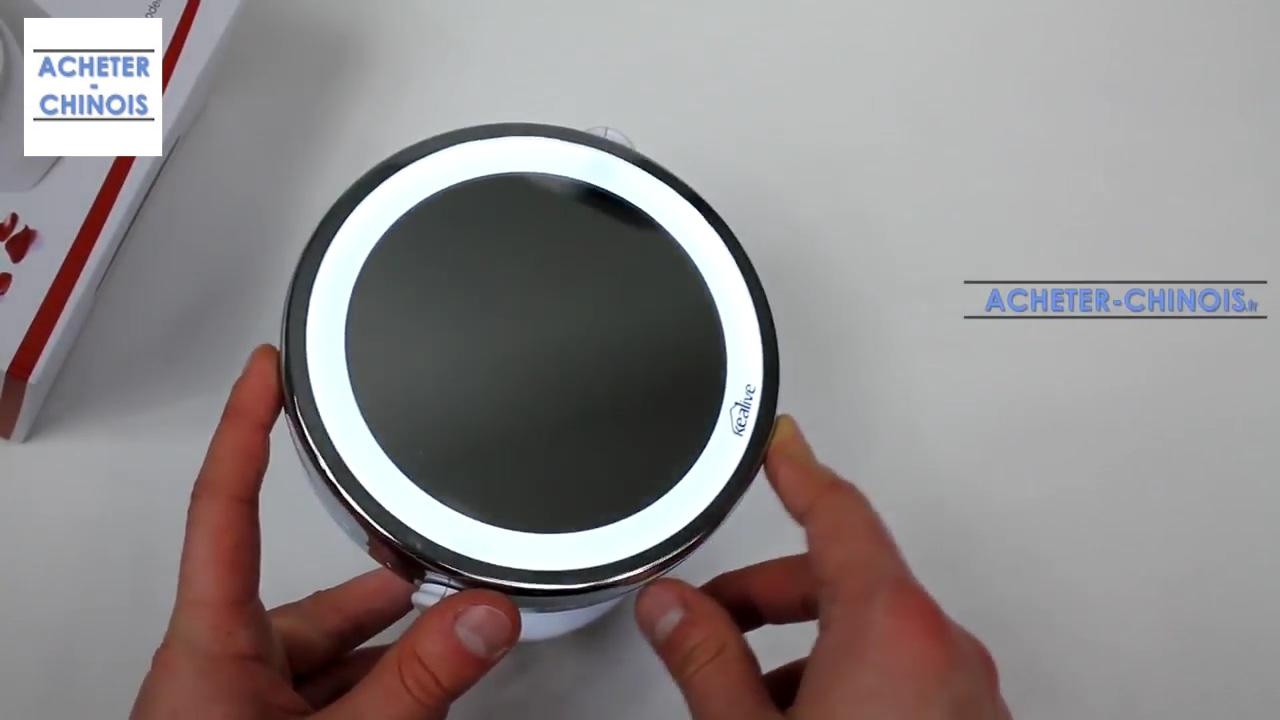 Amazon Miroir Grossissant miroir lumineux kealive // amazon // unboxing & test - youtube