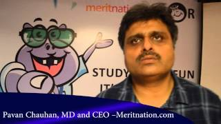 Interaction with Pavan Chauhan CEO Meritnation launched Meritnation Junior portal & App
