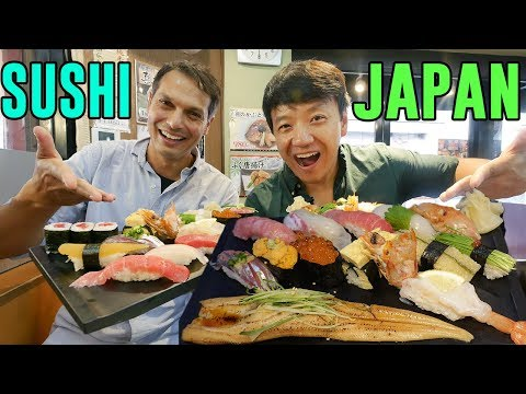 FIRST SUSHI EXPERIENCE in Japan With John Daub From 'Only in Japan'