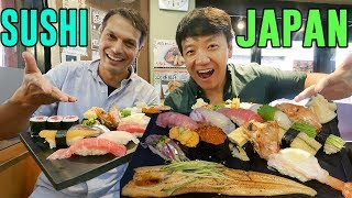 FIRST SUSHI EXPERIENCE in Japan With John Daub From