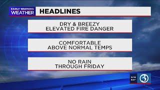 FORECAST: A dry, mild week