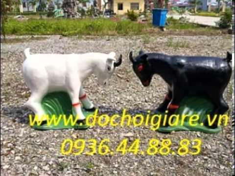 tượng dê đen và dê trắng, 0936 44 88 83, dê đen và dê trắng, tượng 2 con dê