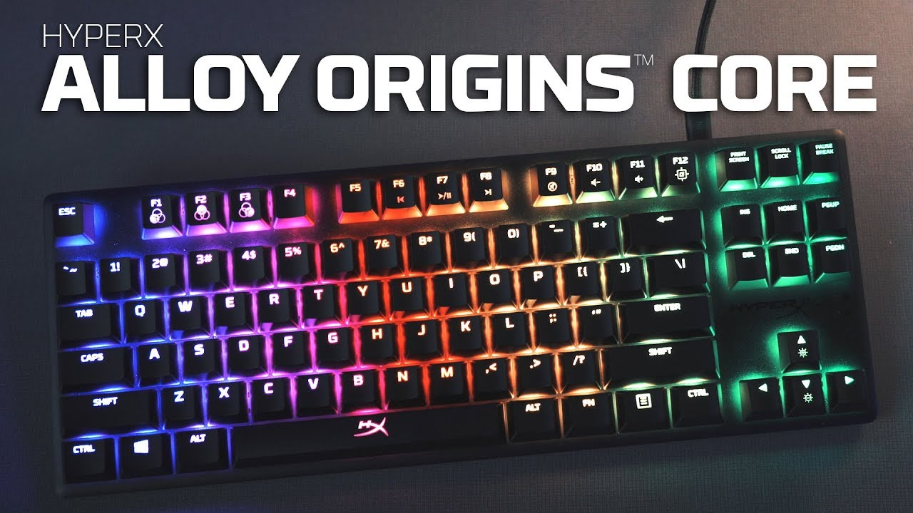 Software-Controlled Light /& Macro Customization RGB LED Backlit HyperX Aqua Tactile Switch Mechanical Gaming Keyboard Compact Form Factor HyperX Alloy Origins