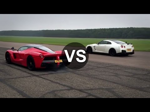 Ferrari LaFerrari Vs Nissan GTR Drag Race - DRAGINFO