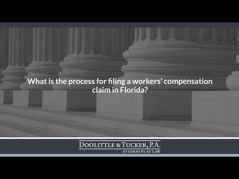 What is the process for filing a workers' compensation claim in Florida?