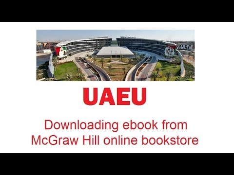 Downloading McGraw Hill Ebook For UAEU Students