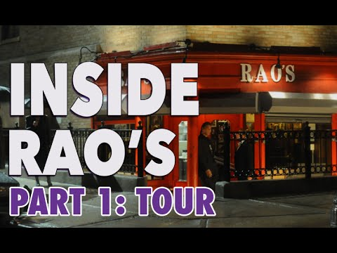Famous Foodies: Inside Rao's: Tour with Frank Pellegrino Sr. (Part 1)