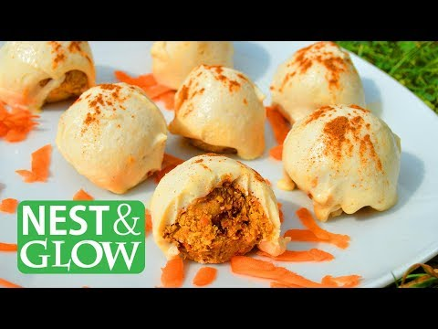 How to Make Raw Carrot Cake Truffles (Vegan + Healthy)