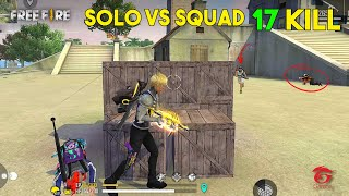 Solo vs Squad 17 Kill Ajjubhai Parafal OverPower Gameplay - Garena Free Fire