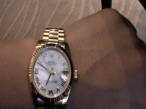 Rolex Watches Prices , Trying on a Gold ROLEX (money inspirAction135)