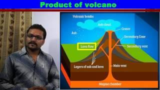 Volcano (ज्वालामुखी) in Hindi
