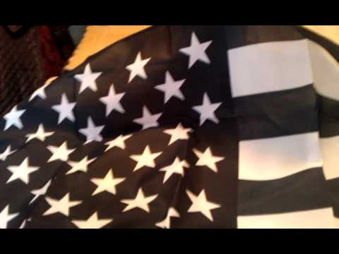 Black And Silver American Flag Aka Recession Unbag