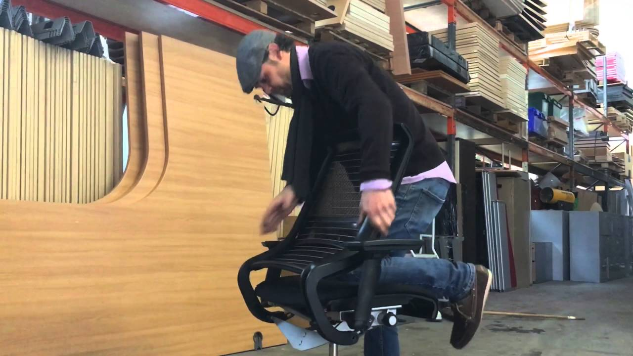 Removing Seat From Steelcase Think Chair  YouTube