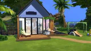 LITTLE FAMILY HOME ON THE BEACH   The Sims 4   Speed Build   NO CC