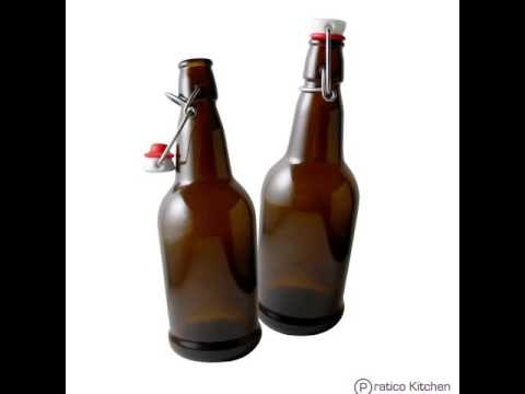 Secure Swing 16 oz Beer Bottles  with Ceram-Seal Ceramic Cap