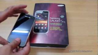 Samsung Galaxy S Plus my new Android phone unboxing
