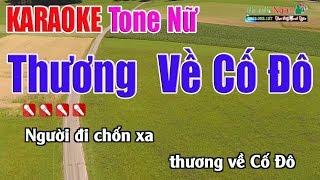 Thương Về Cố Đô Karaoke  Tone Nữ - Nhạc Sống Thanh Ngân1