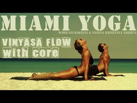 Hard Yoga Workout On The Beach  -  25 mins - Includes Intense Core