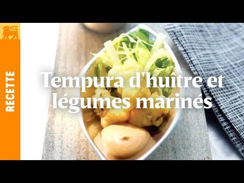 Tempura d'huître et légumes marinés