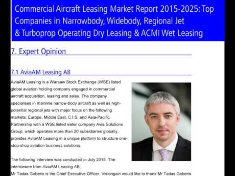 Commercial Aircraft Leasing Market Report 2015-2025