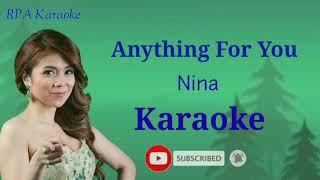 Anything for you - nina | karaoke
