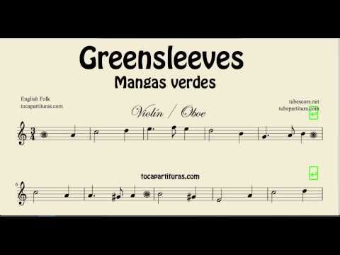 Greensleeves Sheet Music for Violin and Oboe What child is this Partitura de Mangas Verdes