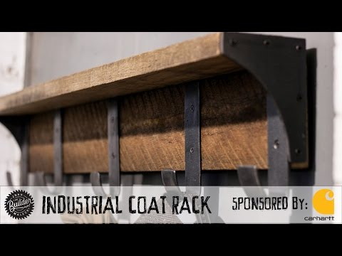 Industrial Coat Rack Build and Giveaway!