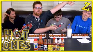 The Hot Ones Challenge! | Ft. YourPalRoss, Castr & Oogapooki!