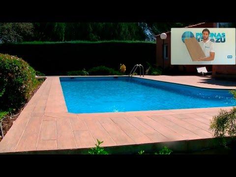 Reforma de piscina con gres porcel nico imitaci n madera for Gres de breda para piscinas